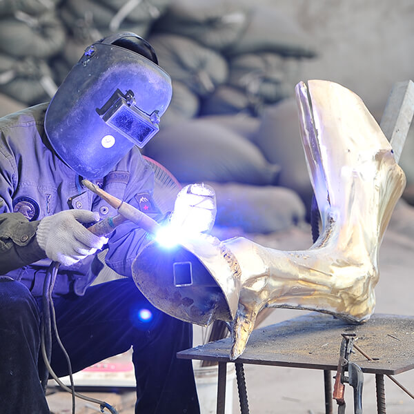 welding and chasing
