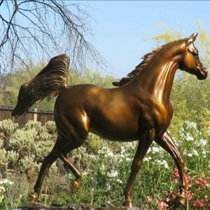 Bronze Arabian Horse Sculpture