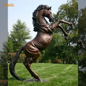 Bronze Rearing Horse Sculpture