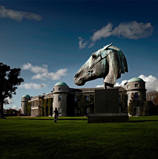Bronze Horse Head Sculpture