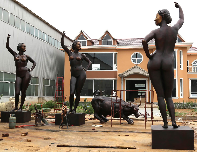 6m Custom Bronze Statue 4
